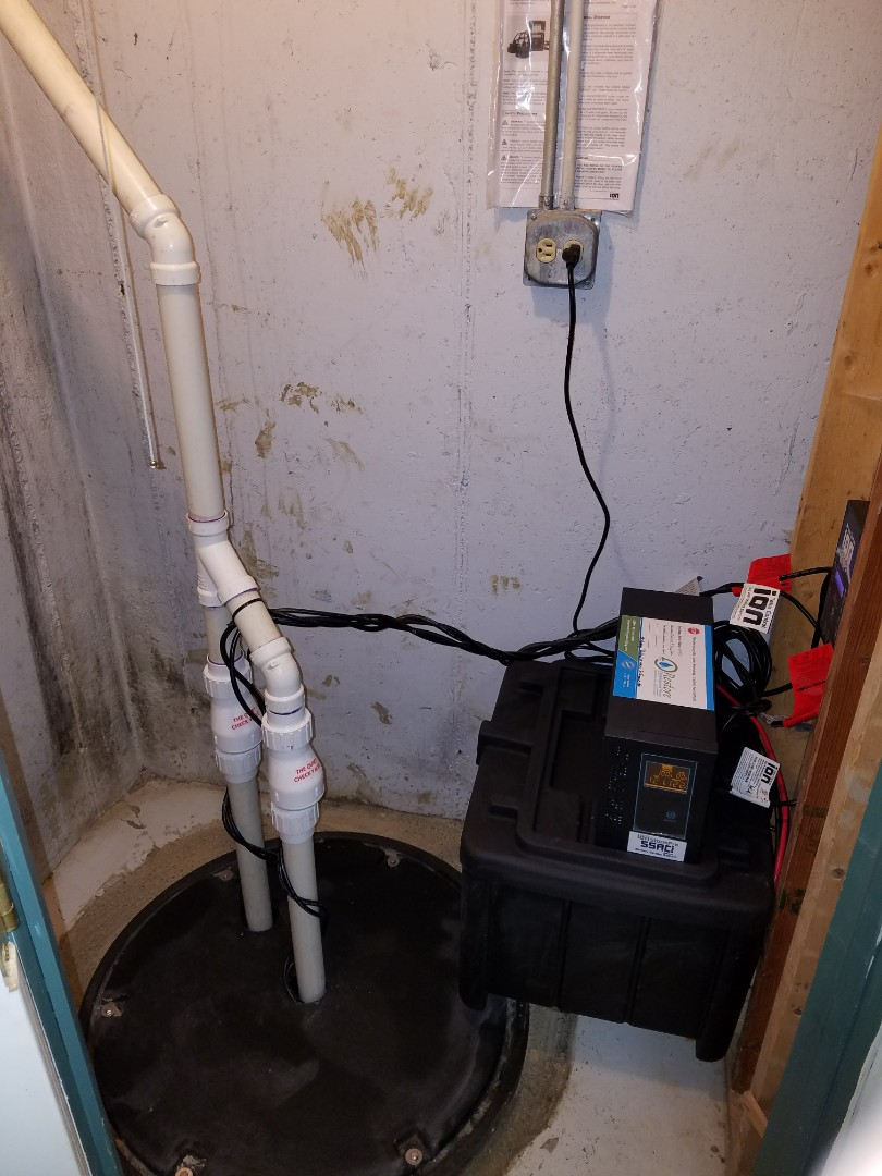 Carol Stream, IL - Upgrade the existing with a new XL sump pump basin, double pump system and backup unit to prevent further flooding of the basement.