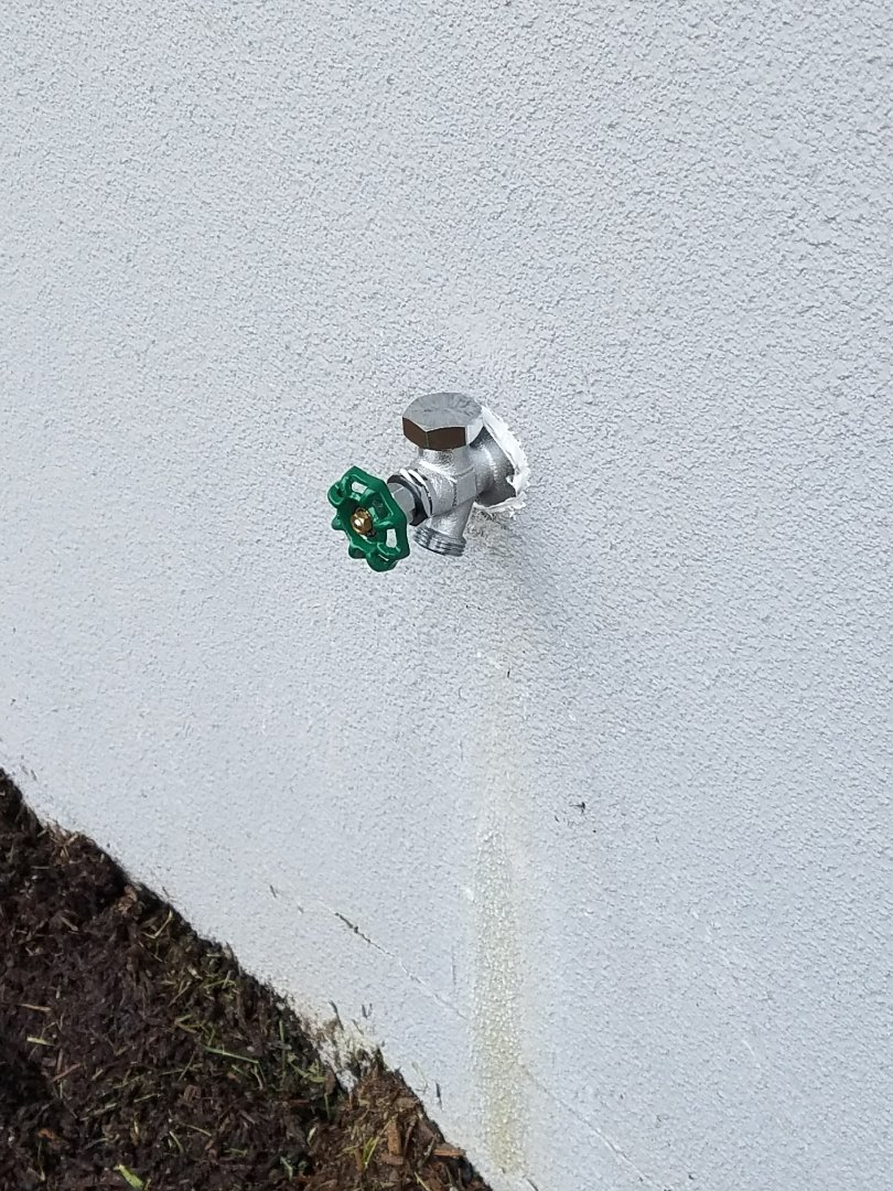 Elgin, IL - Replace a hose spigot that was leaking even when turned off.