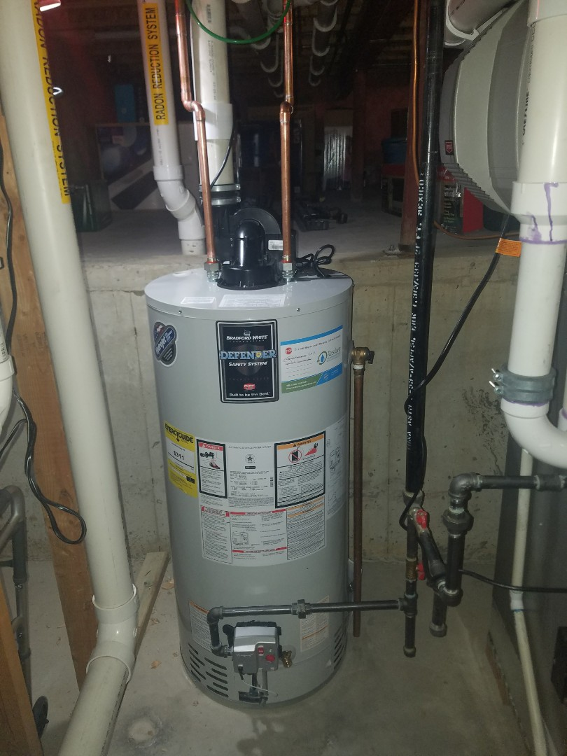 Replace an older water heater that was failing to heat consistently.