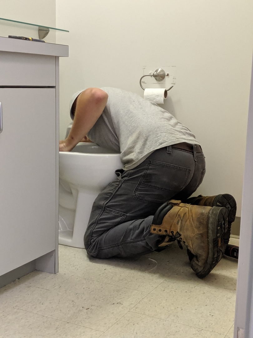 Port Hope, ON - Installing new toilet in Port Hope