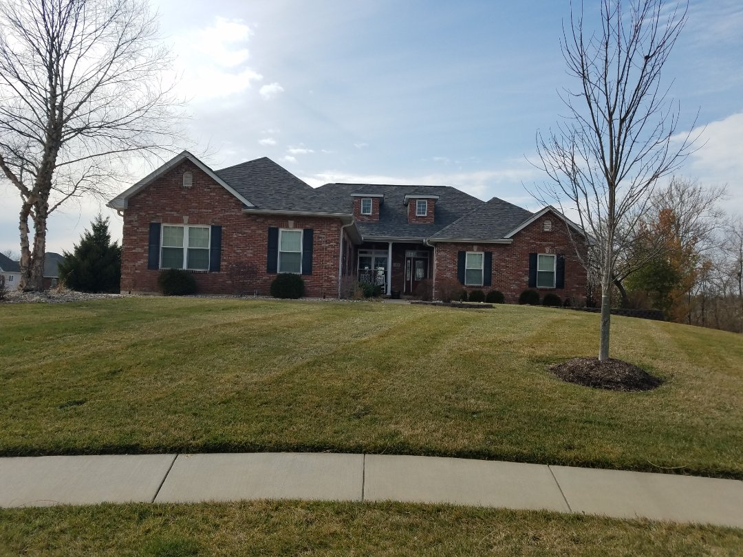Columbia, IL - EBS is working with a client on a rear addition to install an Architectural shingle roof and new vinyl siding.