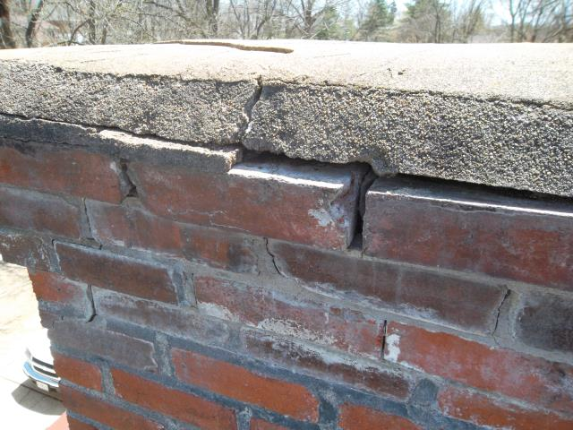 Ballwin, MO - Pricing to tuckpoint chimney as needed and install new coping on the top