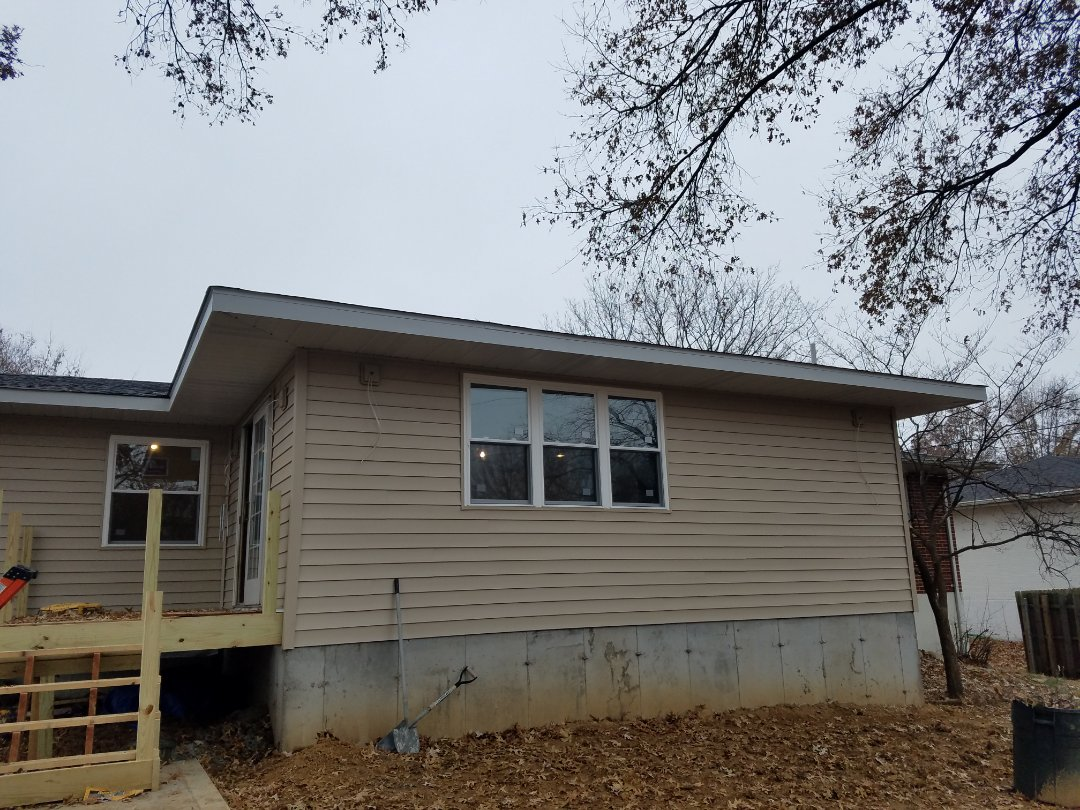 "St. Louis, MO - EBS just completed a CertainTeed ""Mainstreet"" vinyl siding installation on a room addition."