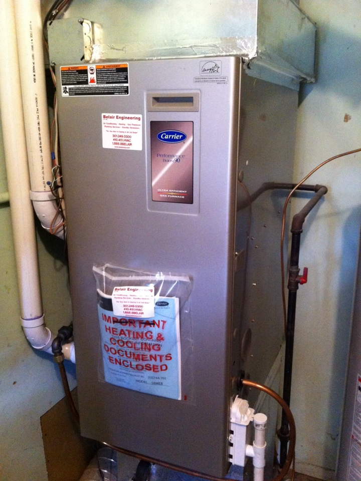Crofton, MD - Carrier furnace service in crofton maryland