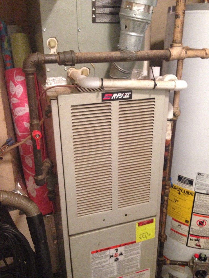 Crownsville, MD - Janitrol gas furnace AC heating & air conditioning system replacement installation service call in Crownsville Maryland.
