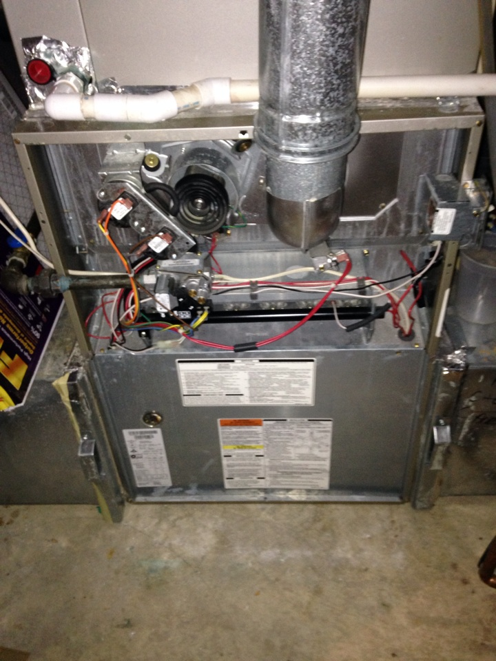 Gambrills, MD - Gas furnace heating system installation repair service call in Gambrills Maryland.