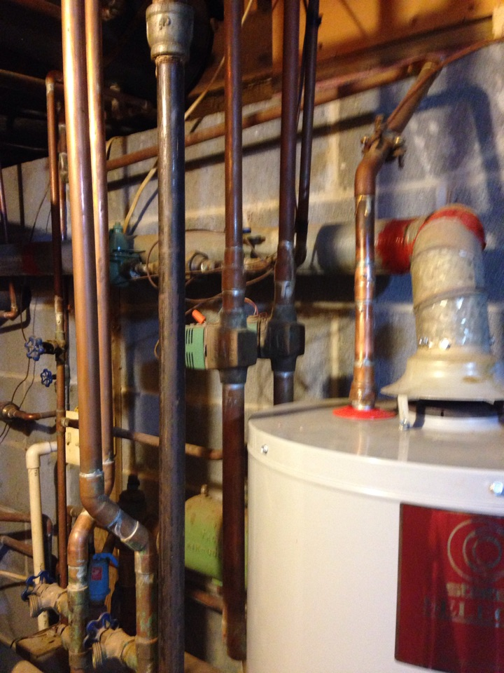 Crownsville, MD - Boiler furnace heating system replacement installation in Crownsville Maryland.