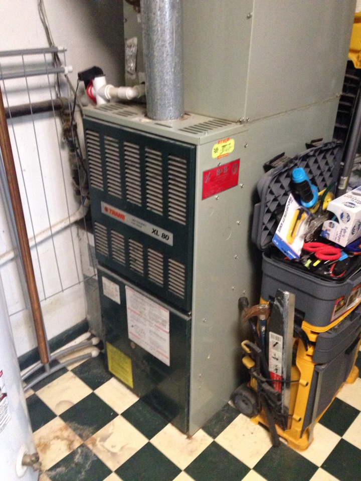 Crownsville, MD - Trane gas furnace AC heating & air conditioning system replacement installation in Crownsville Maryland.