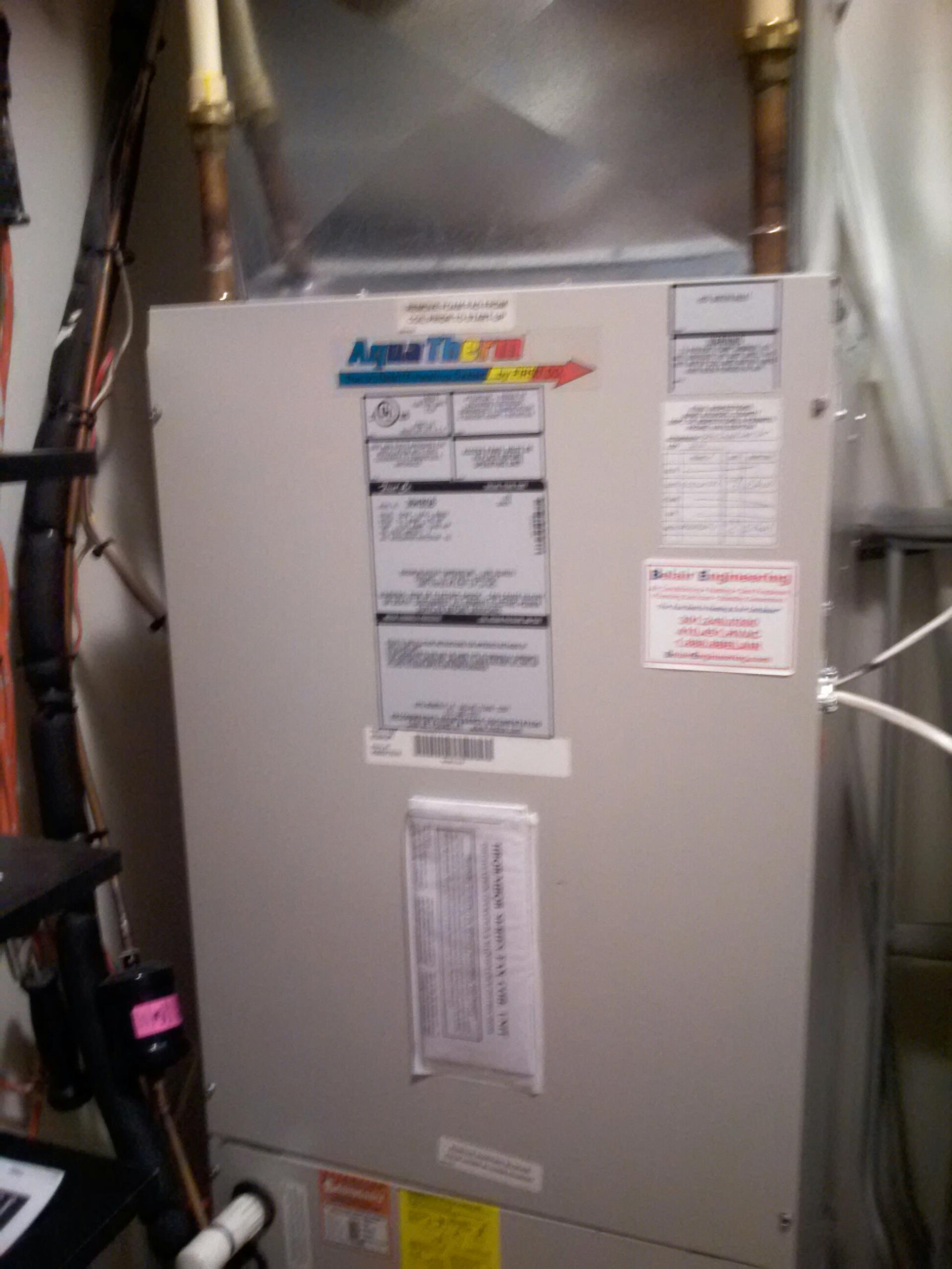 Gambrills, MD - Aqua Therm heating furnace installation repair service call in Gambrills Maryland.