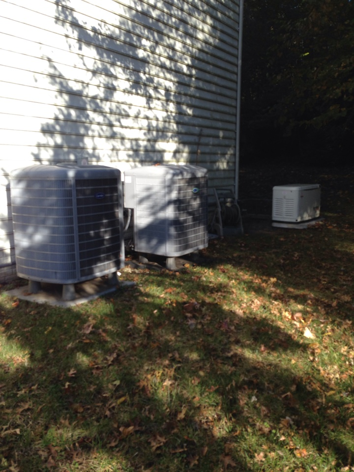 Gambrills, MD - Fall service on a back up generator and 2 gas systems. We do it all!!!
