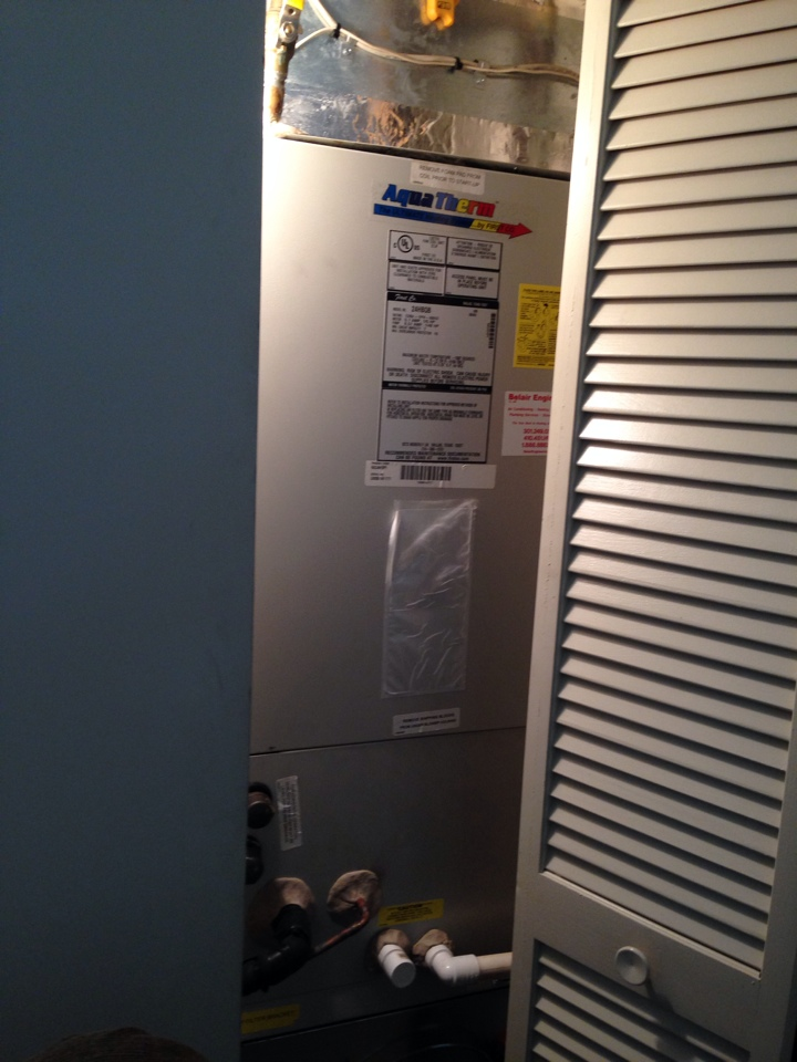 Crofton, MD - Fall Service on a Aqua Therm hot water unit.