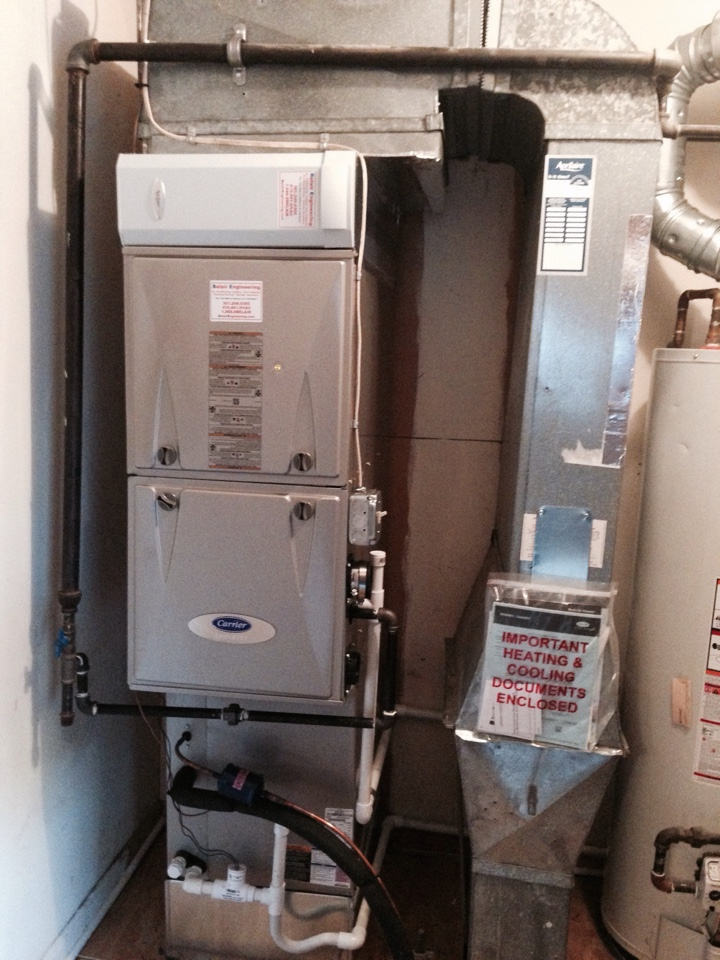 Crofton, MD - Gas furnace AC heating & air conditioning system replacement installation service call in Crofton Maryland.