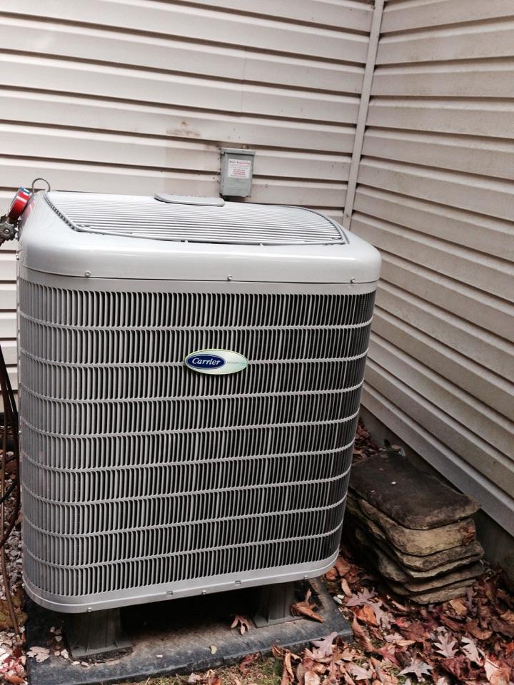 Crofton, MD - Heat pump replacement installation in Crofton Maryland.