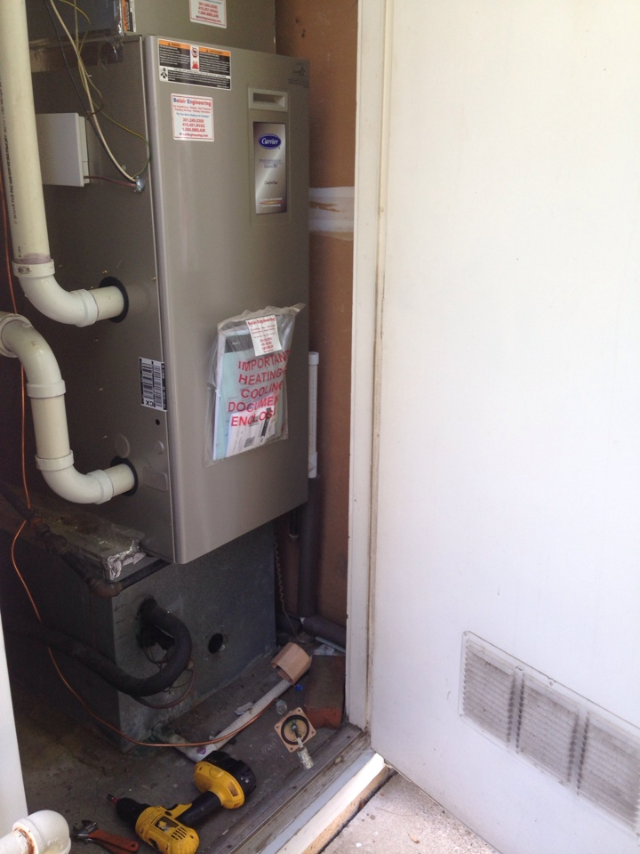 Crofton, MD - Crofton Maryland furnace heating system & whole house humidifier nozzle replacement installation service call.