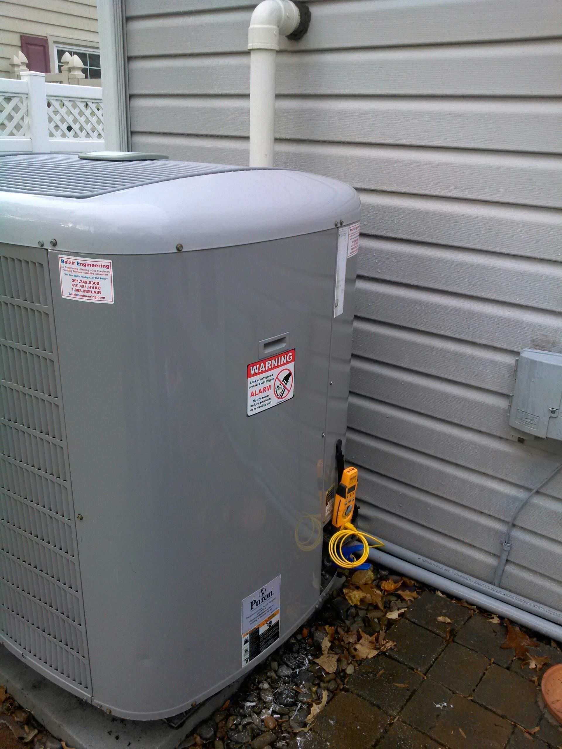 Crofton, MD - Crofton Maryland heat pump furnace replacement installation service call.