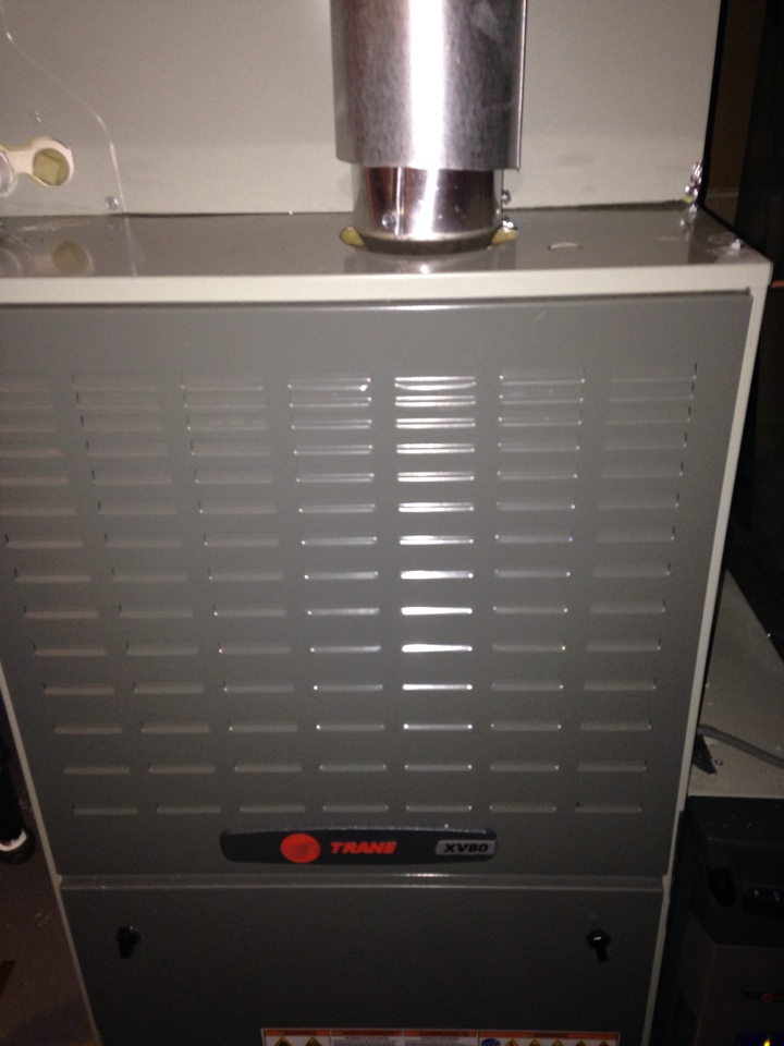 Gambrills, MD - Gambrills Maryland Trane gas furnace heating & air conditioning system repair service call.