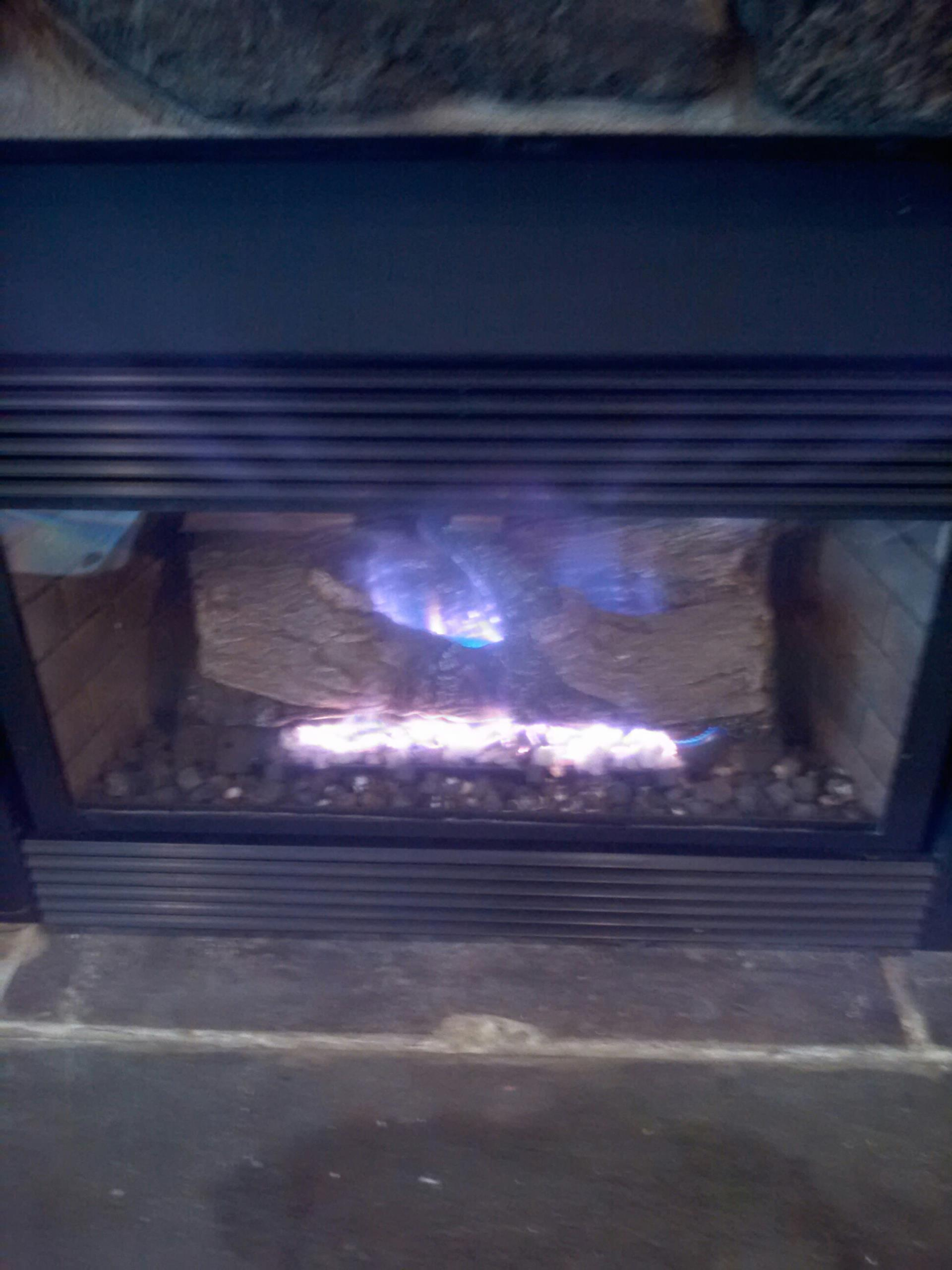 Gambrills, MD - Gambrills Maryland gas fireplace insert & gas logs installation repair service call.
