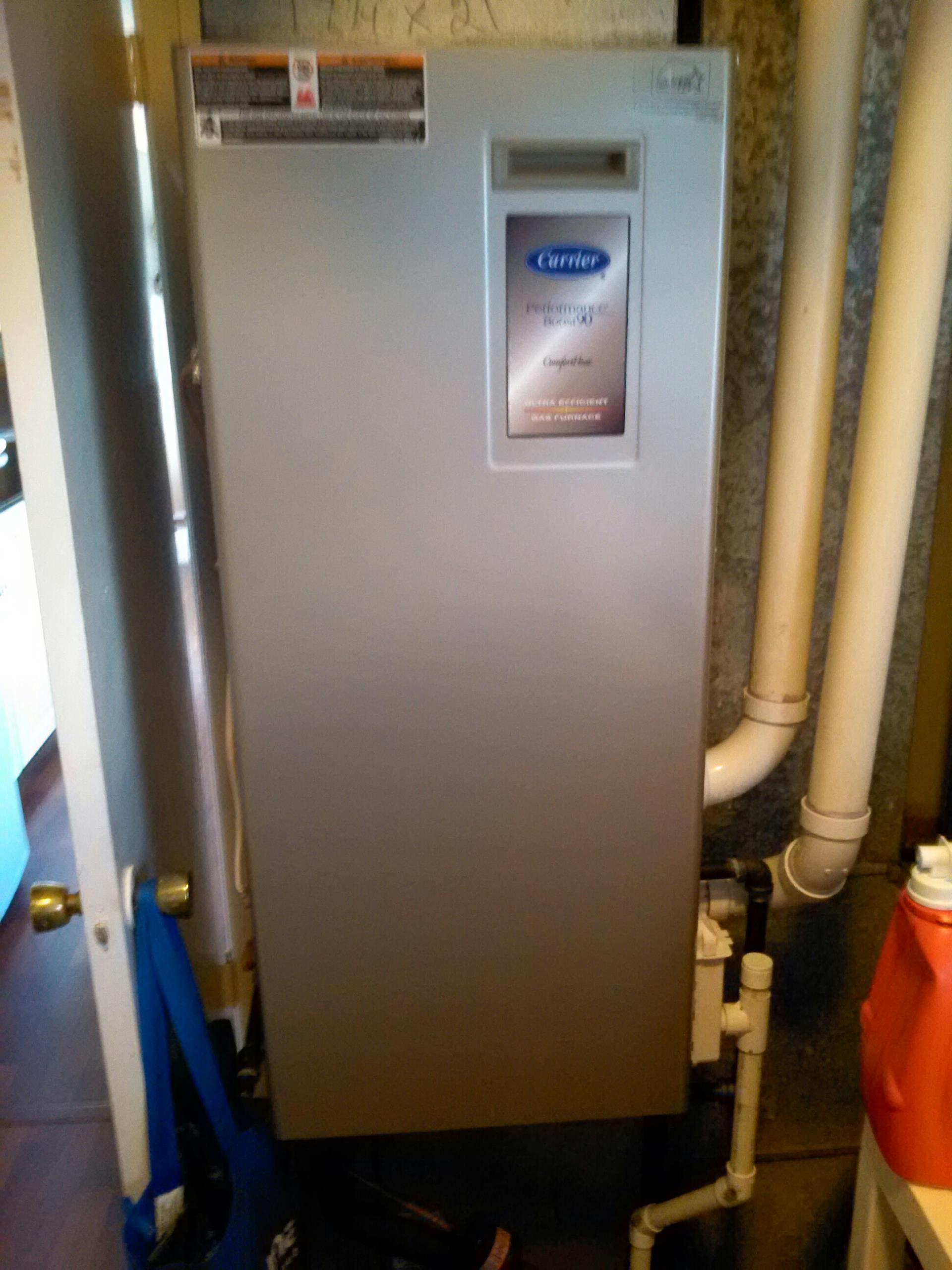 Crownsville, MD - Crownsville Maryland gas furnace heating system installation repair service call.