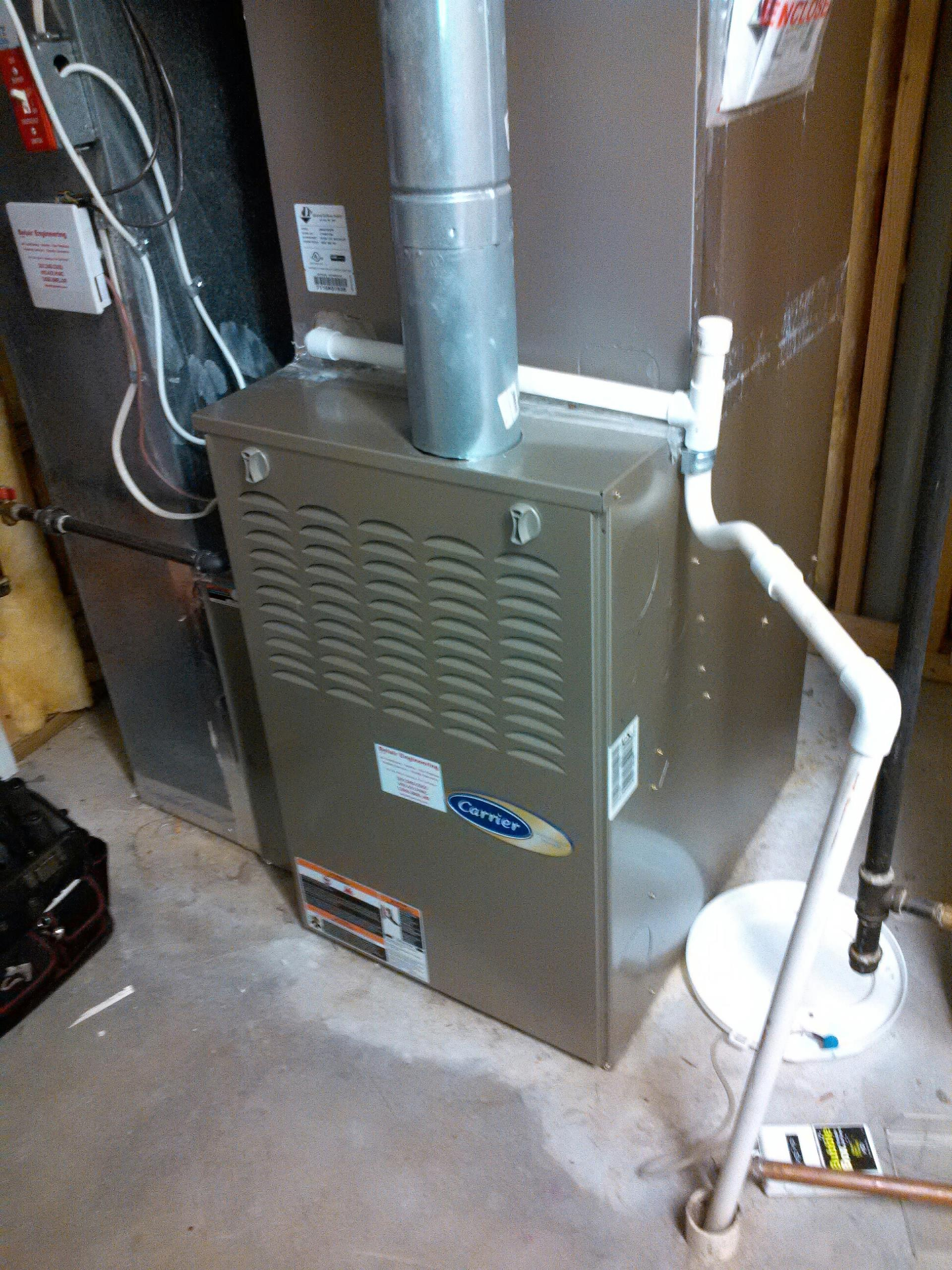 Gambrills, MD - Gambrills Maryland Carrier gas furnace repair service call.