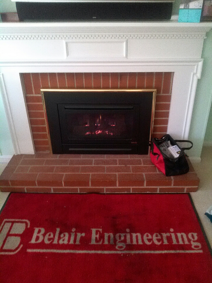 Crofton, MD - Crofton Maryland Heat-n-Glo Gas fireplace insert gas logs installation repair service call.