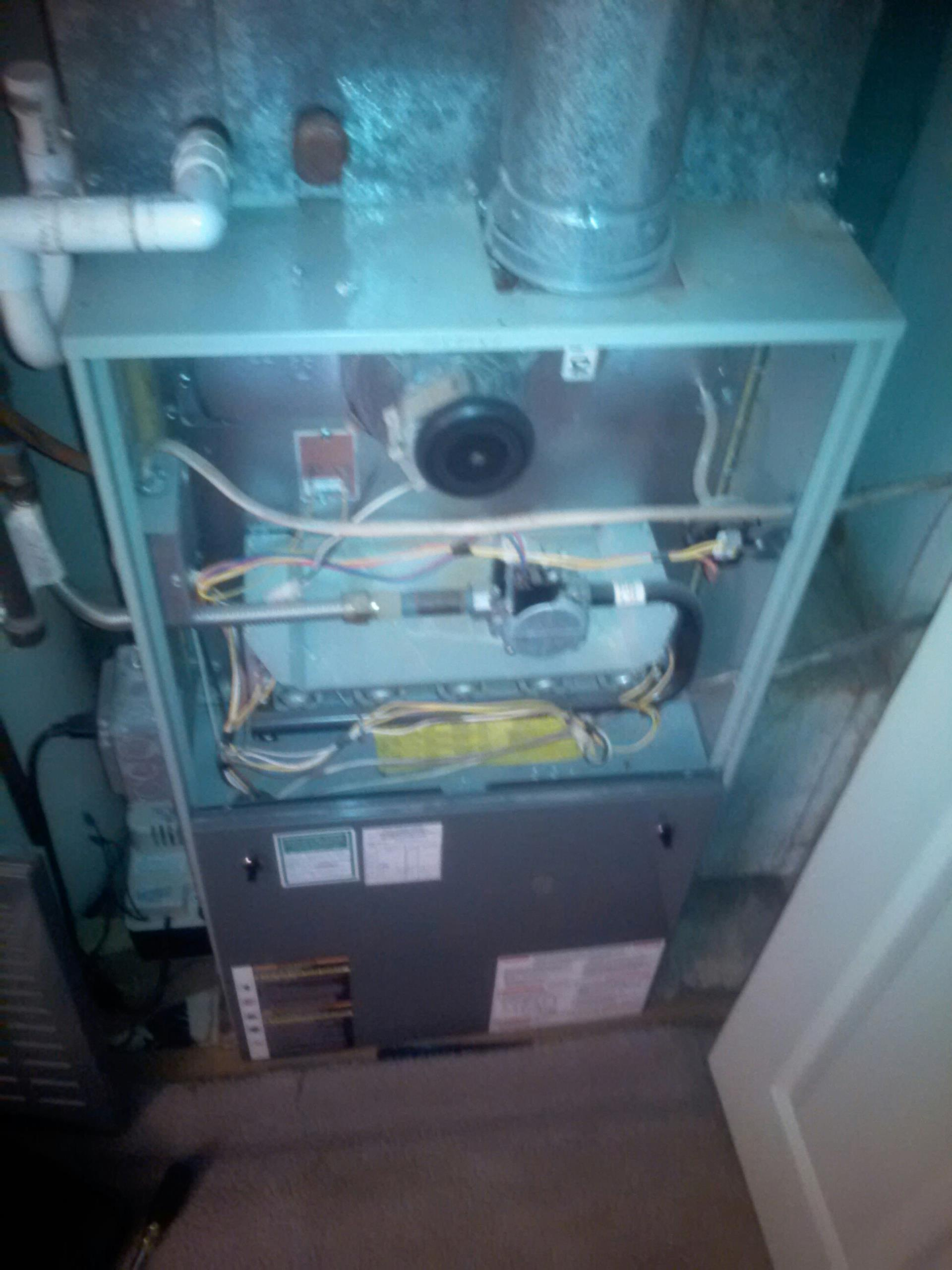 Crofton, MD - Crofton Maryland gas furnace heating & AC system replacement installation service call.