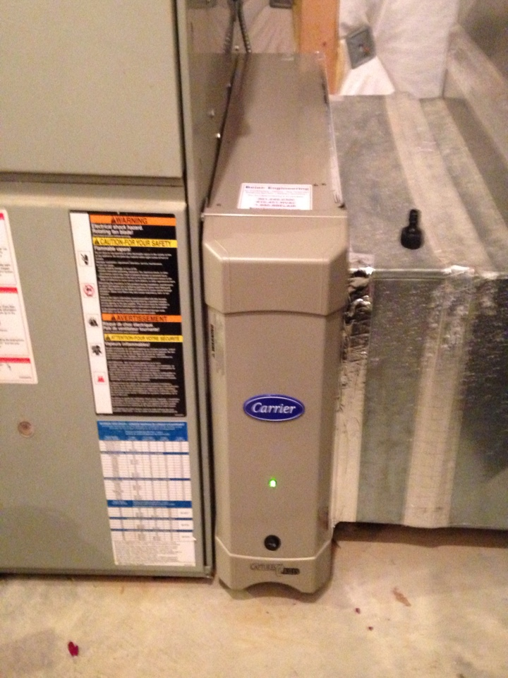 Crofton, MD - Crofton Maryland Carrier electronic air cleaner installation service call.