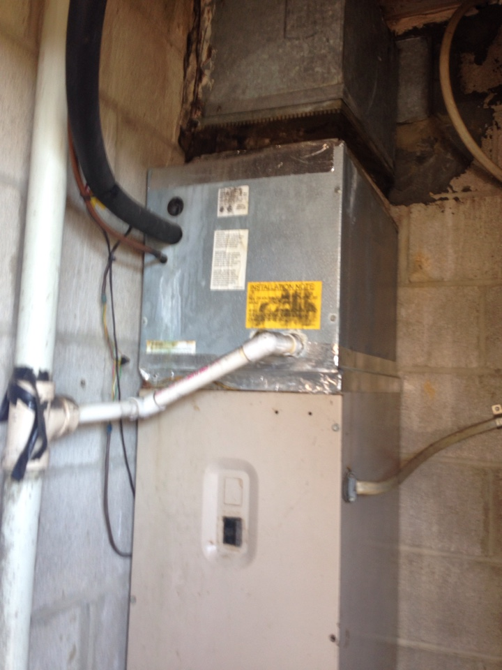 Crofton, MD - Crofton Maryland heat pump furnace heating system replacement installation service call.