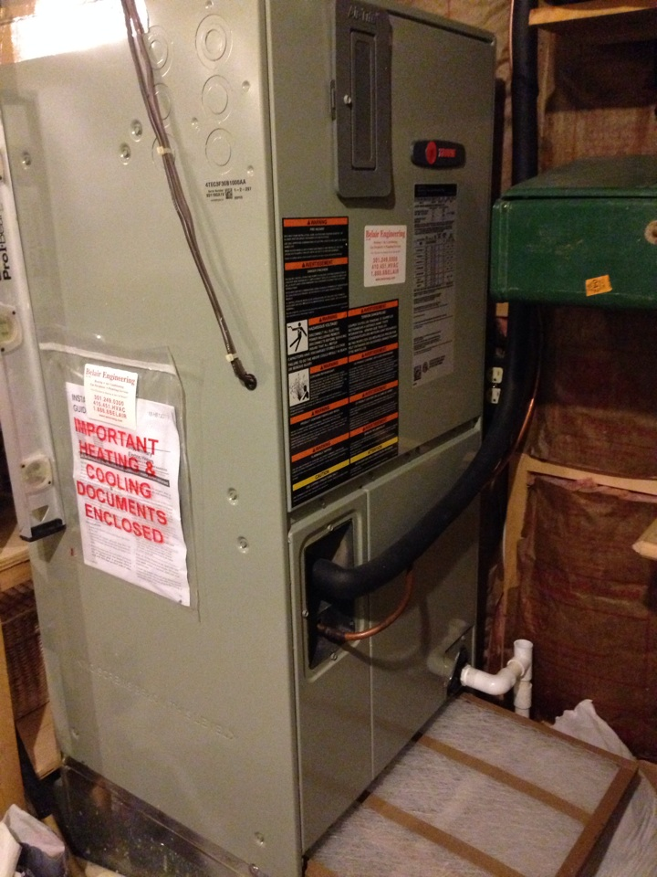 Crofton, MD - Crofton Maryland Trane gas furnace heating system replacement installation service call.