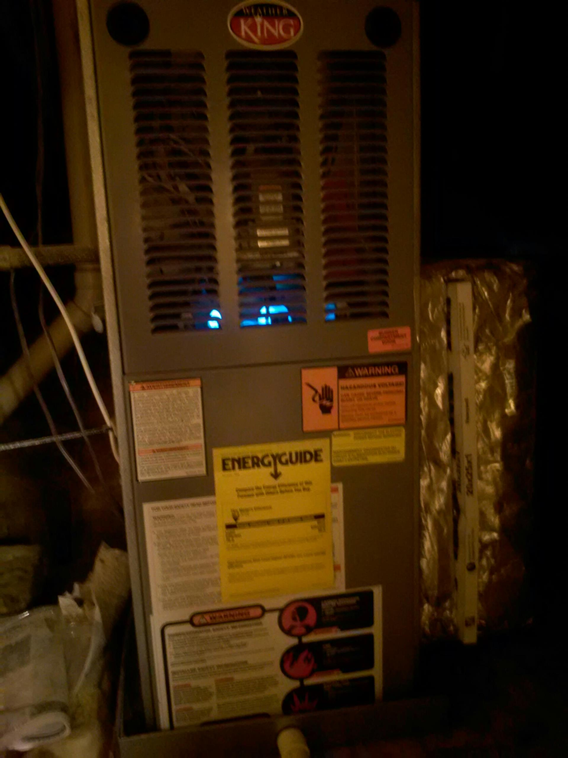 Crofton, MD - Crofton Maryland Weather King gas furnace heating system replacement installation repair service call.