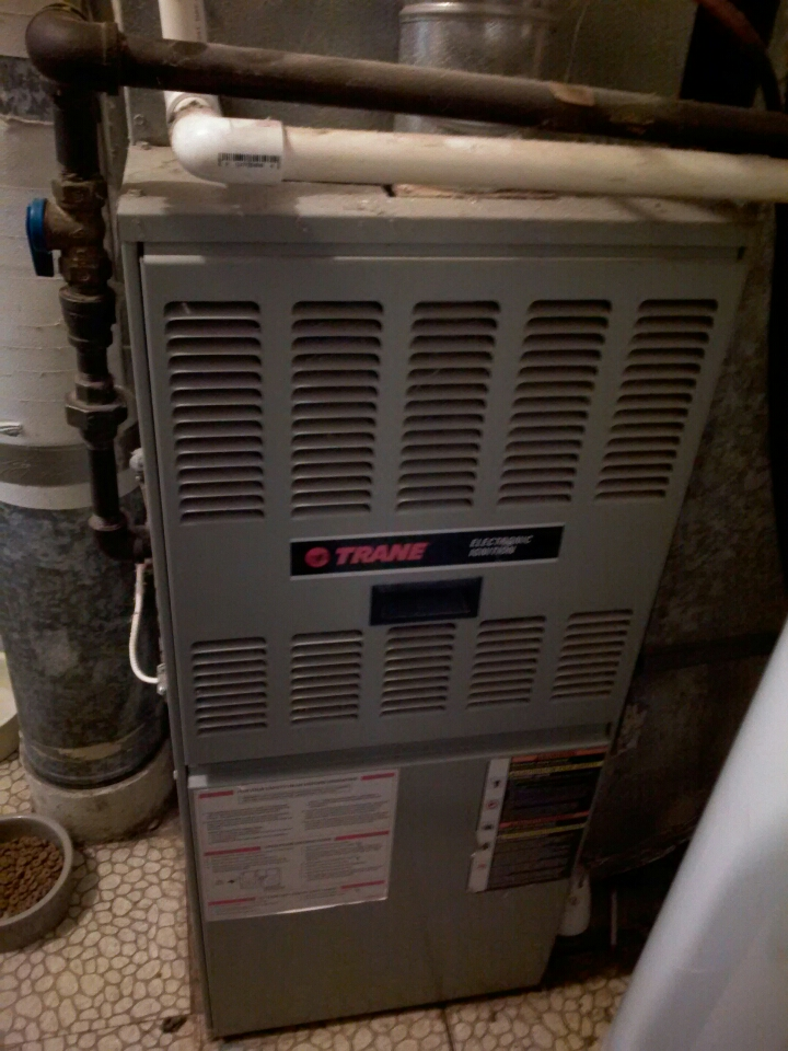 Crofton, MD - Crofton Maryland Trane gas furnace heating & air conditioning system replacement installation service call.
