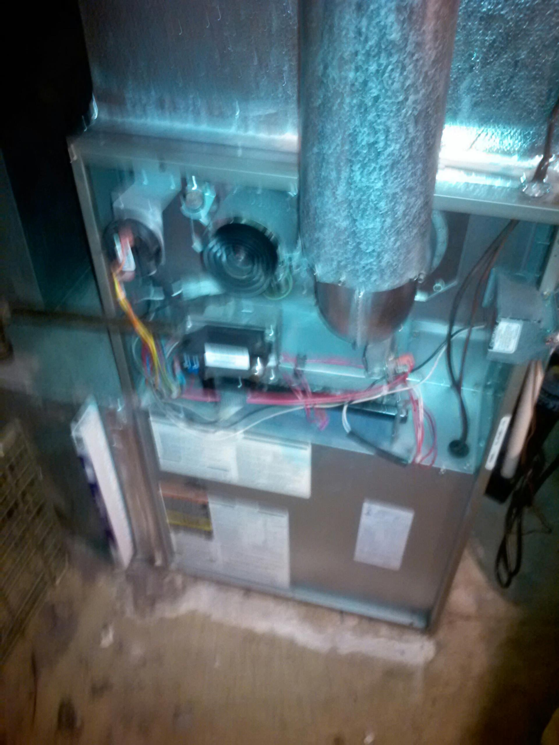 Crofton, MD - Crofton Maryland Carrier gas heating furnace system replacement installation service call.