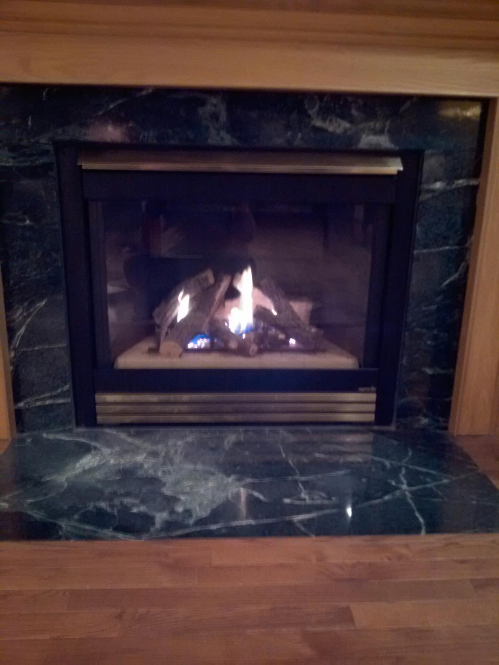 Gambrills, MD - Gambrills Maryland gas fireplace insert & gas logs installation repair service call.Fireplace service