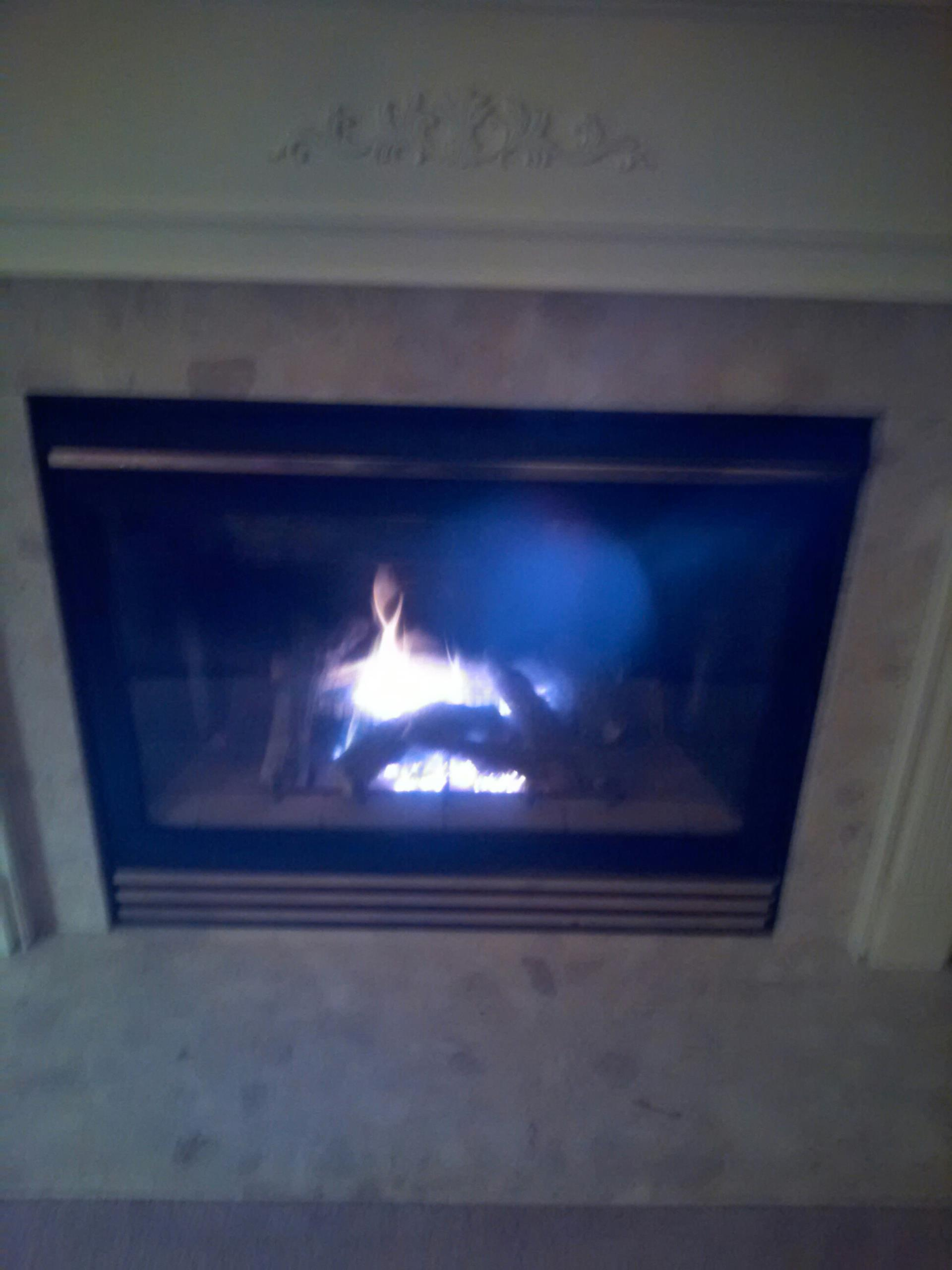 Gambrills, MD - Gambrills Maryland gas fire place insert & gas log set installation repair service call.Fireplace service