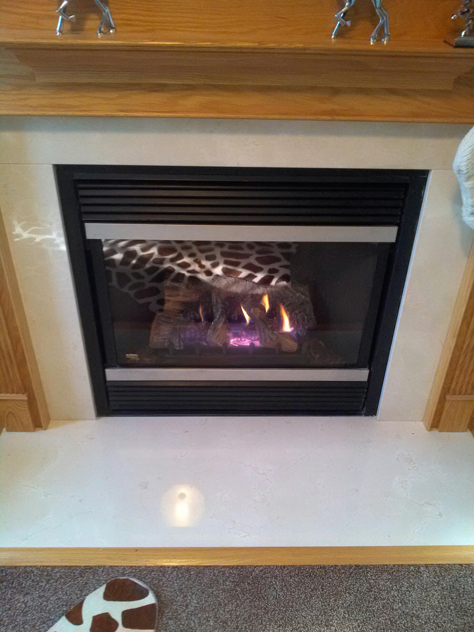 Gambrills, MD - Gambrills Maryland Mendota gas fireplace insert & gas logs installation repair service call.