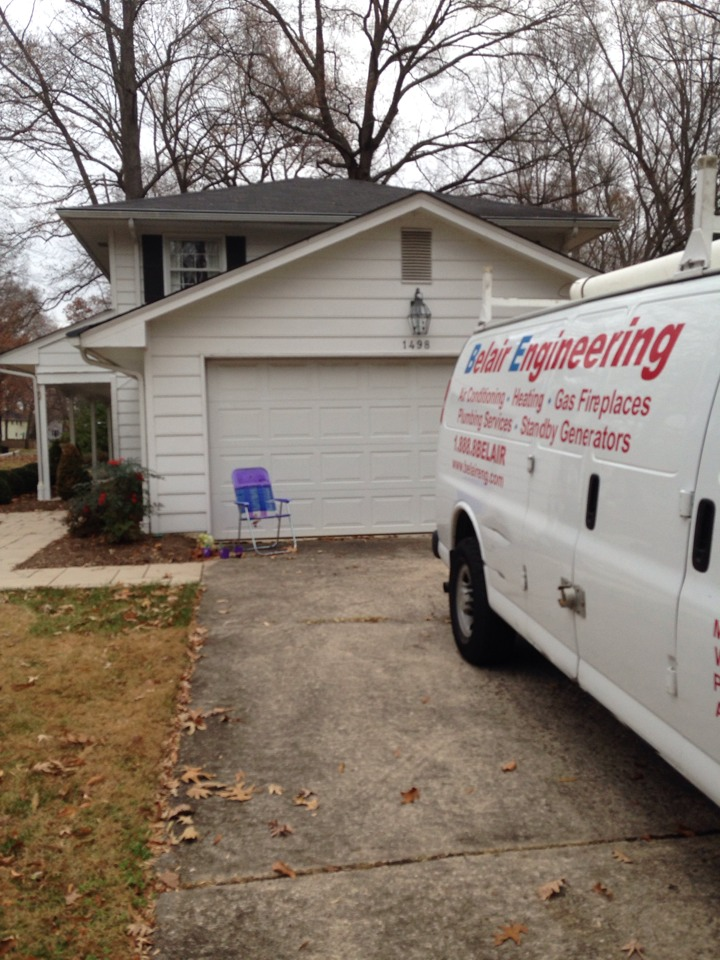 Crofton, MD - Crofton Maryland gas furnace heating system installation repair service call.