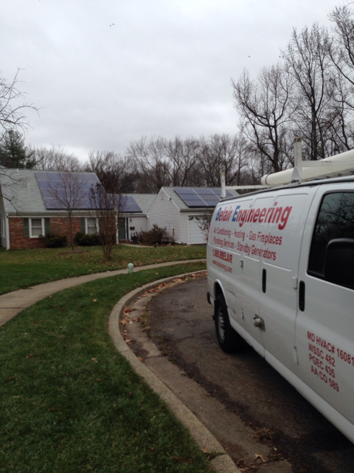 Crofton, MD - Crofton Maryland heat pump furnace heating system installation repair service call.