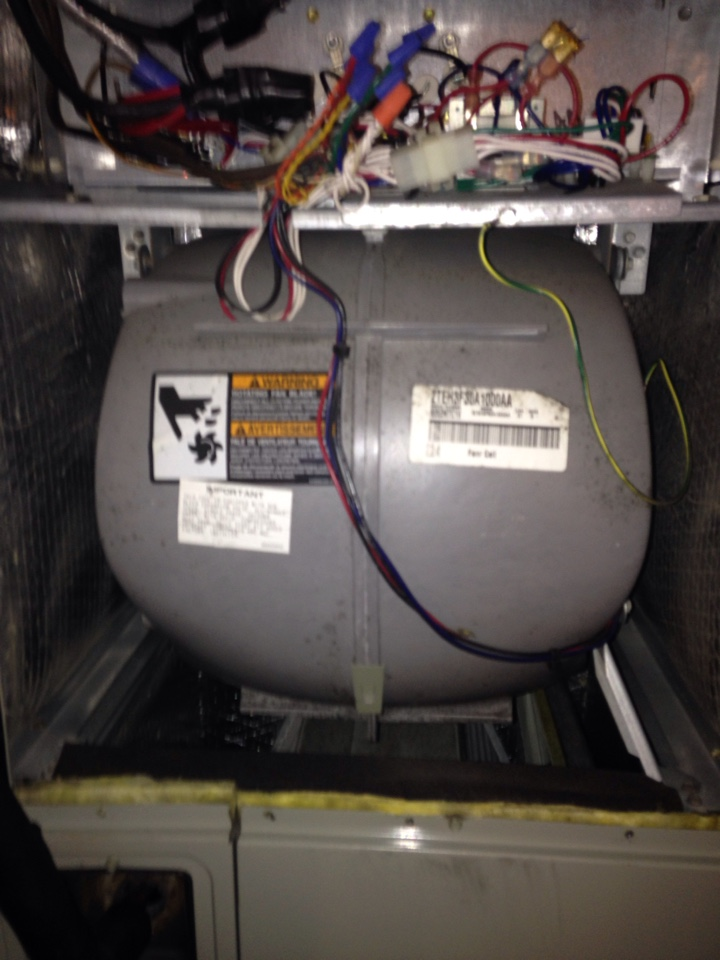 Crofton, MD - Crofton Maryland Trane gas furnace heating AC system replacement installation service call.