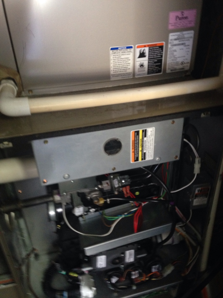 Crofton, MD - gas furnace heating system repair service call.