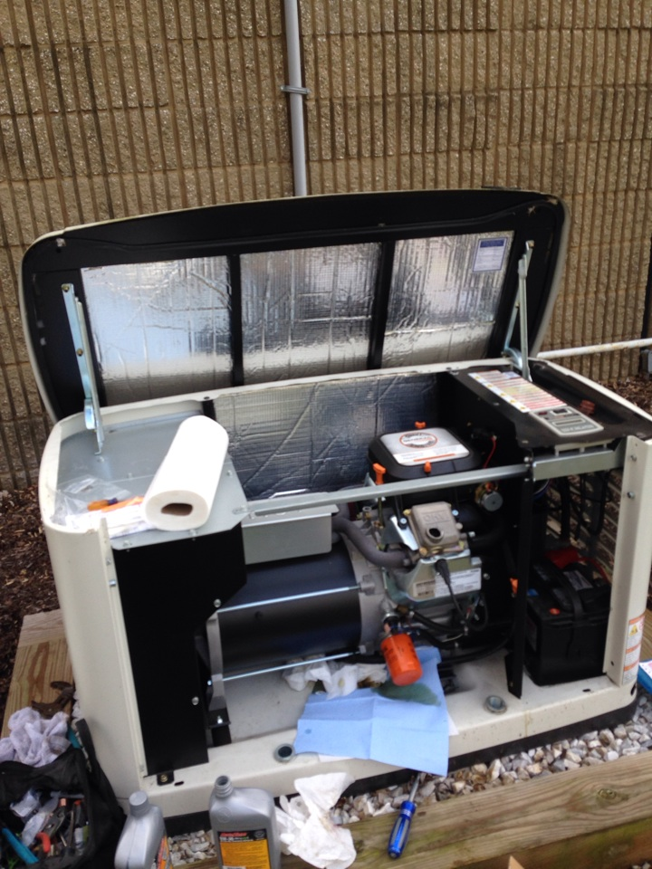 Crownsville, MD - Crownsville Maryland standby generator installation repair service call.
