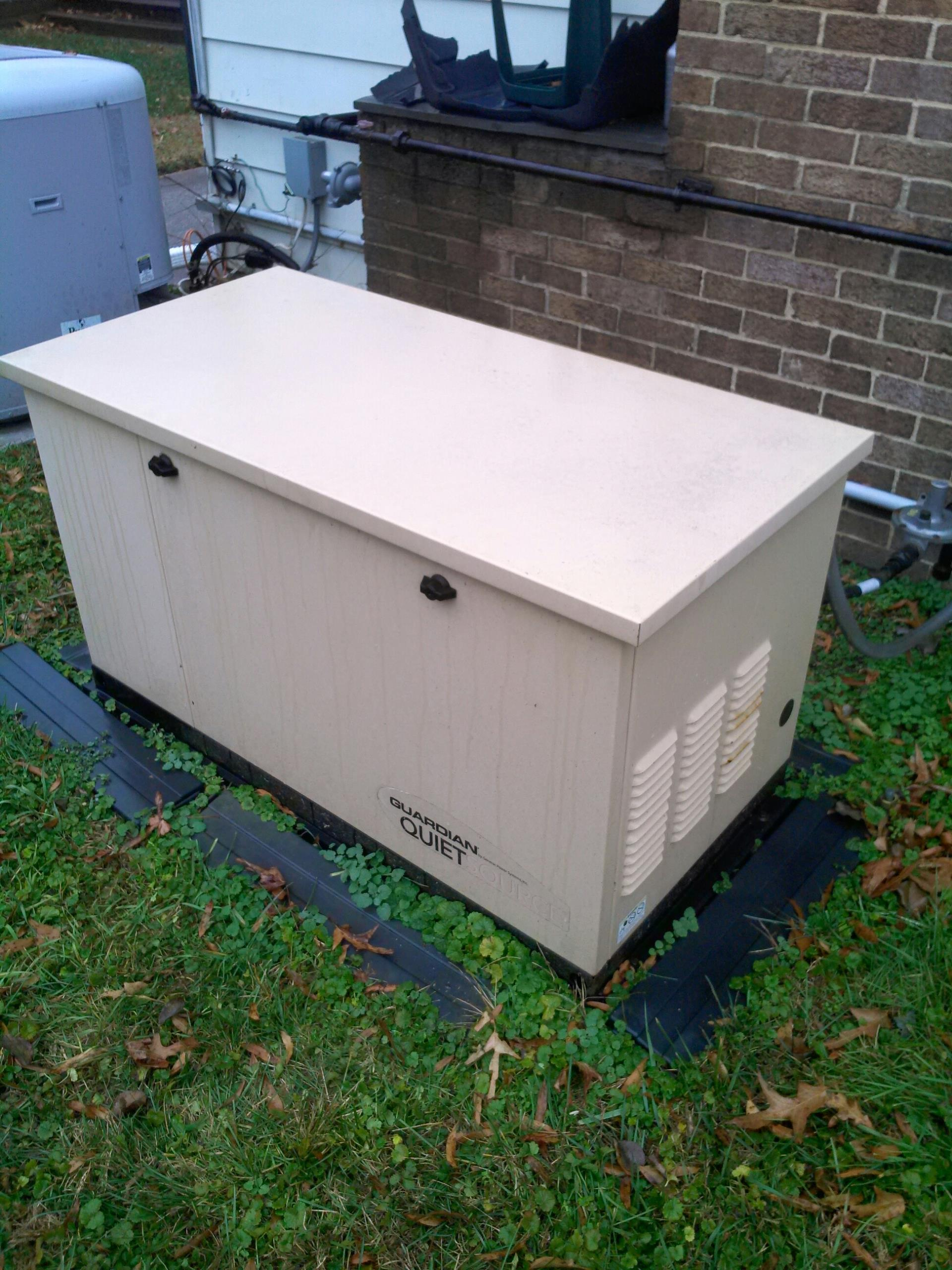 Goddard, MD - Goddard Maryland standby backup generator installation repair service call.