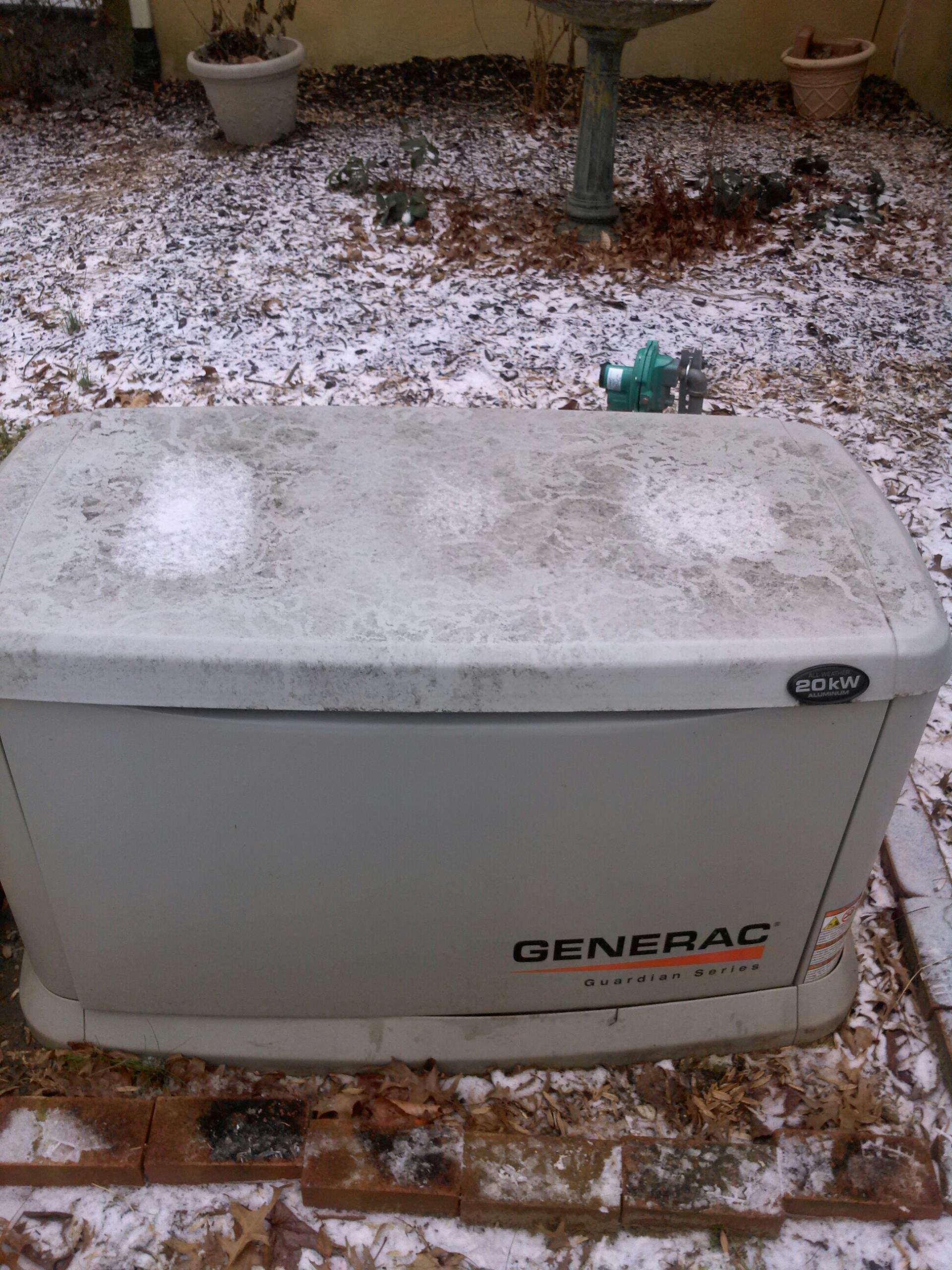 Gambrills, MD - 20 KW Generac standby generator installation repair service call in Gambrills Maryland 21054