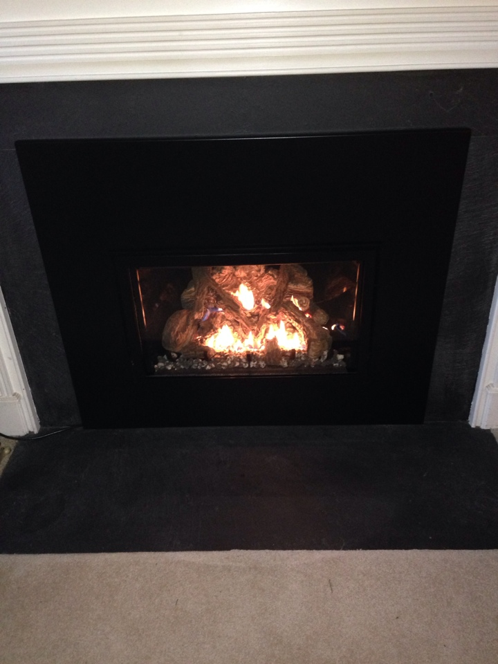Gambrills, MD - Mendota gas fire place insert & gas log set installation repair service call in Gambrills Maryland 21054