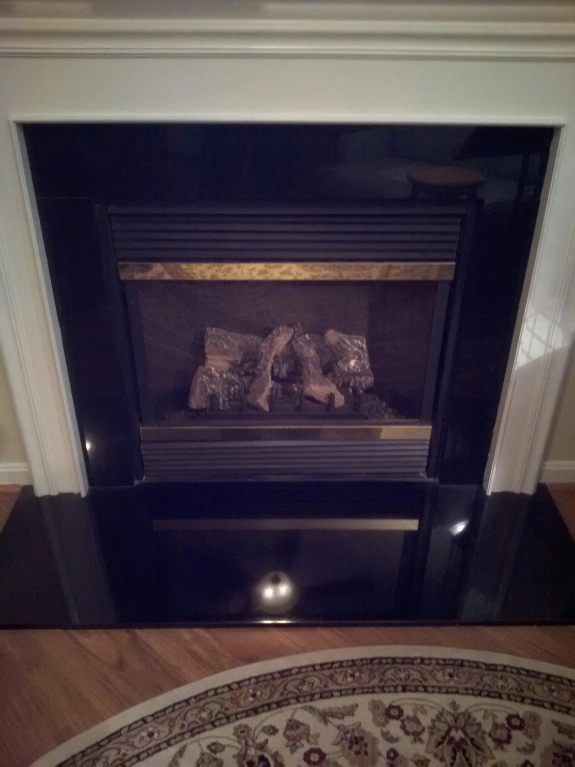 Gambrills, MD - Heat N Glo gas fire place insert & gas log set installation repair service call in Gambrills Maryland 21054