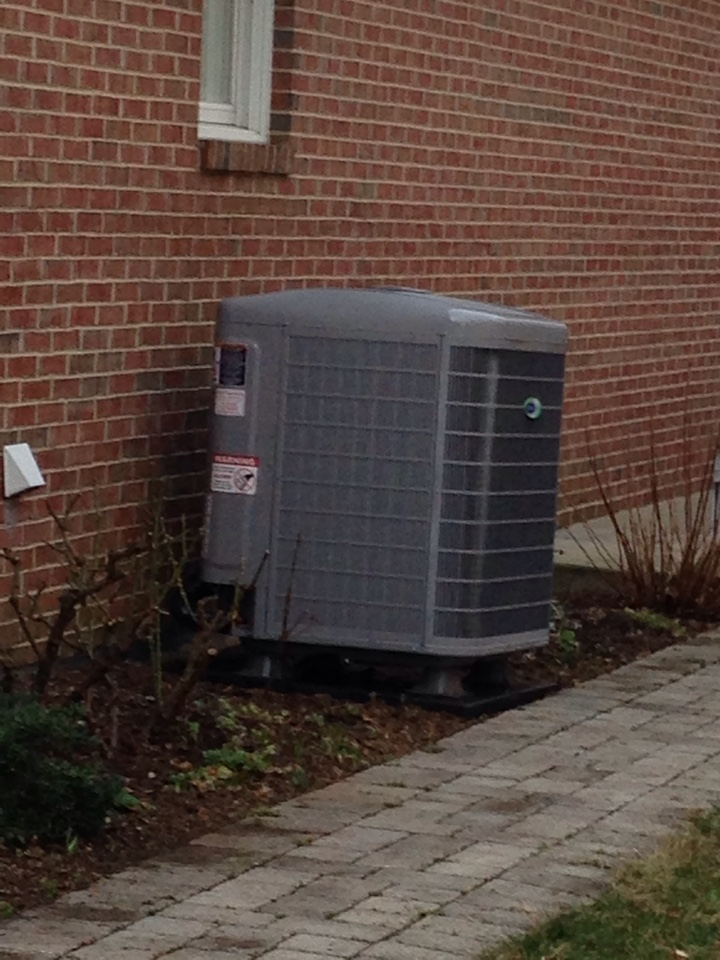 Crofton, MD - Heat pump furnace heating & AC system, Aprilaire humidifier & Honeywell electronic air cleaner replacement installation service call in Crofton Maryland 21114
