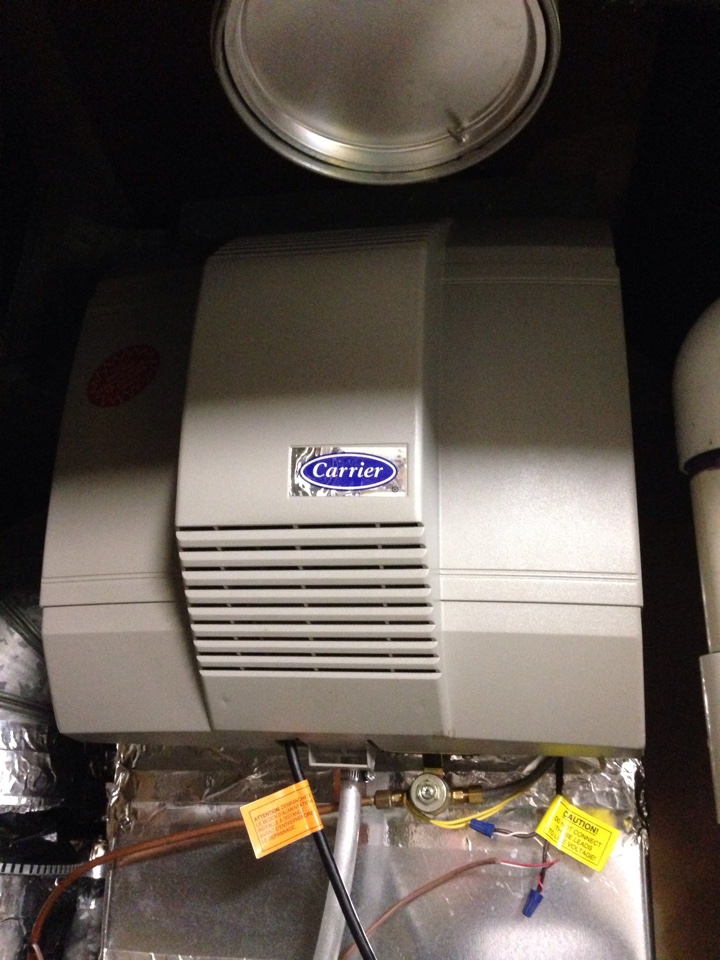 Crofton, MD - Gas fireplace insert & gas logs installation & Aprilaire humidifier repair service call in Crofton Maryland 21114