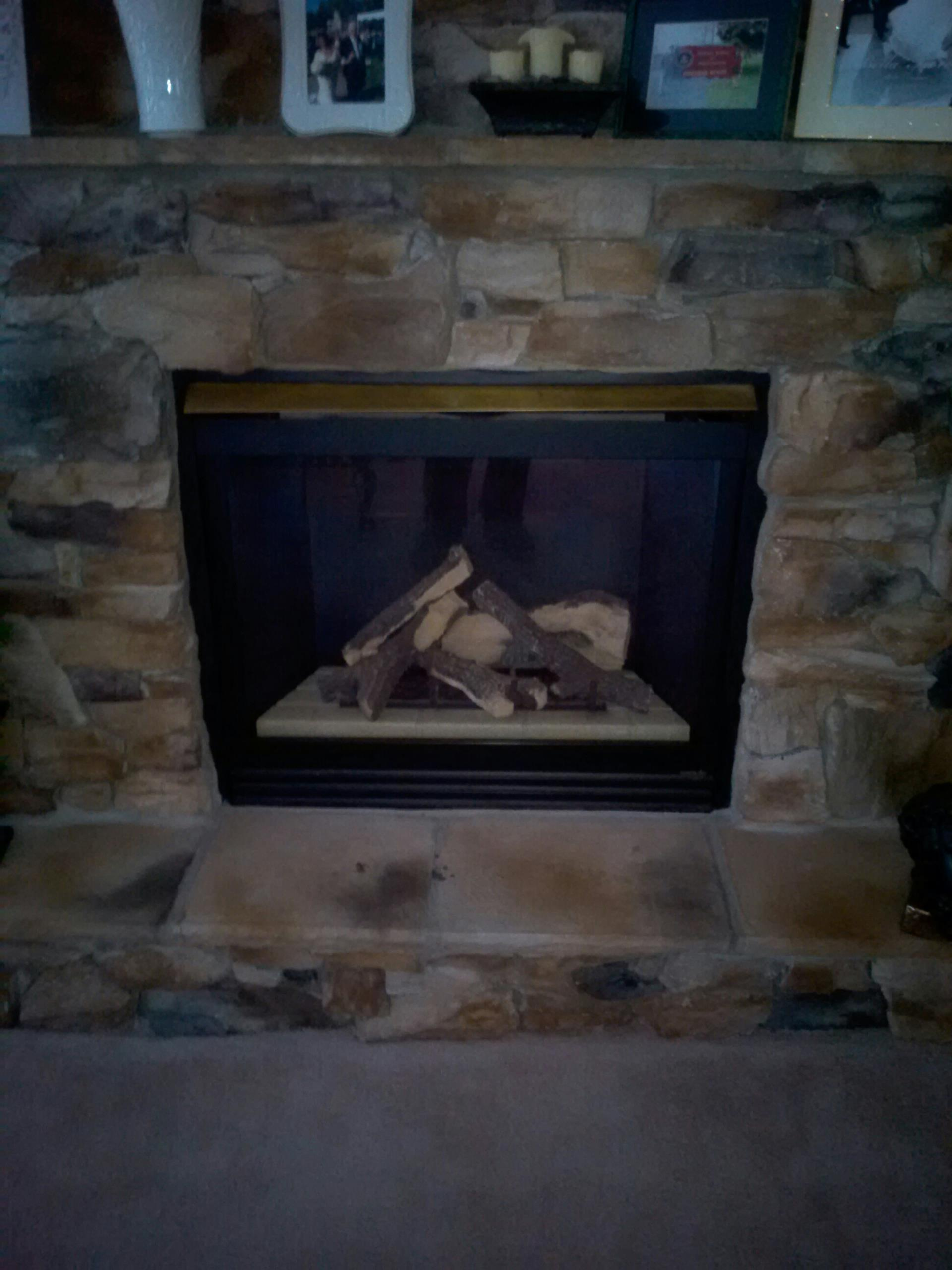 Gambrills, MD - Gas fireplace insert & gas logs installation repair service call in Gambrills Maryland 21054