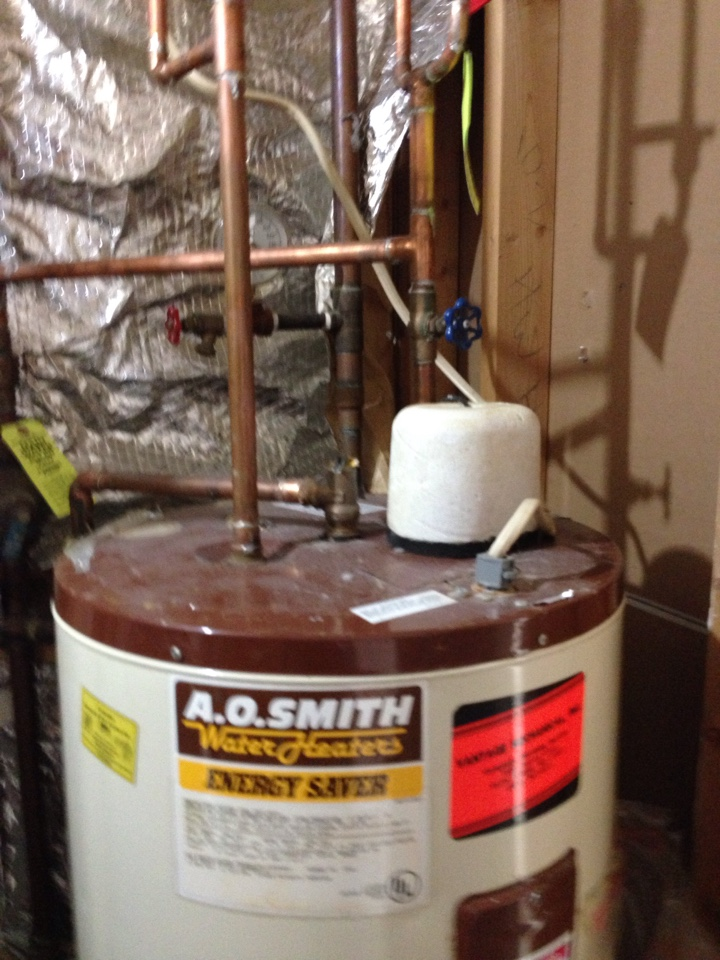 Gambrills, MD - Gas furnace heating & AC system & A.O. Smith hot water heater replacement installation service call in Gambrills Maryland 21054