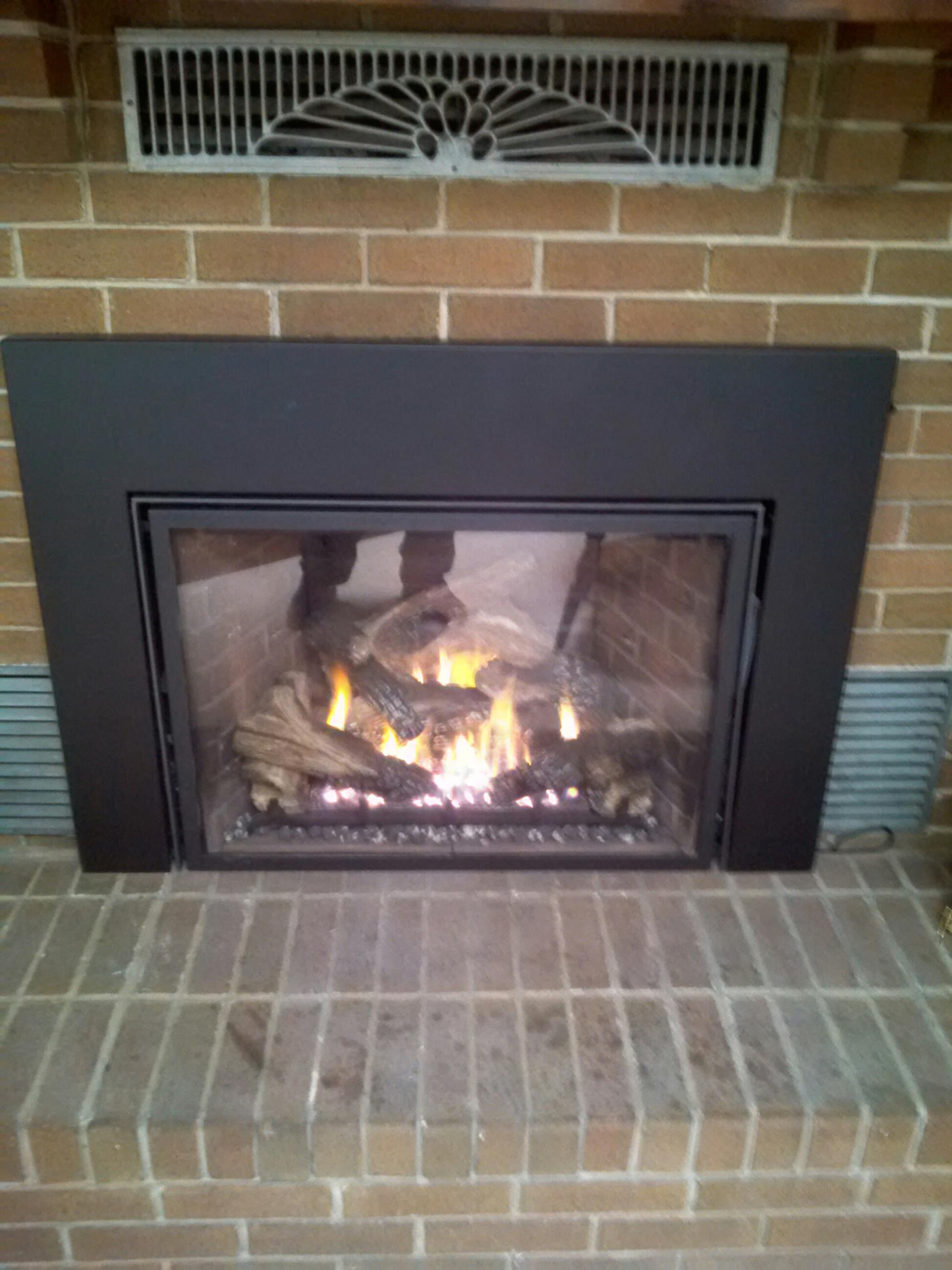 Gambrills, MD - Mendota gas fireplace insert & gas logs installation repair service in Gambrills Maryland 21054