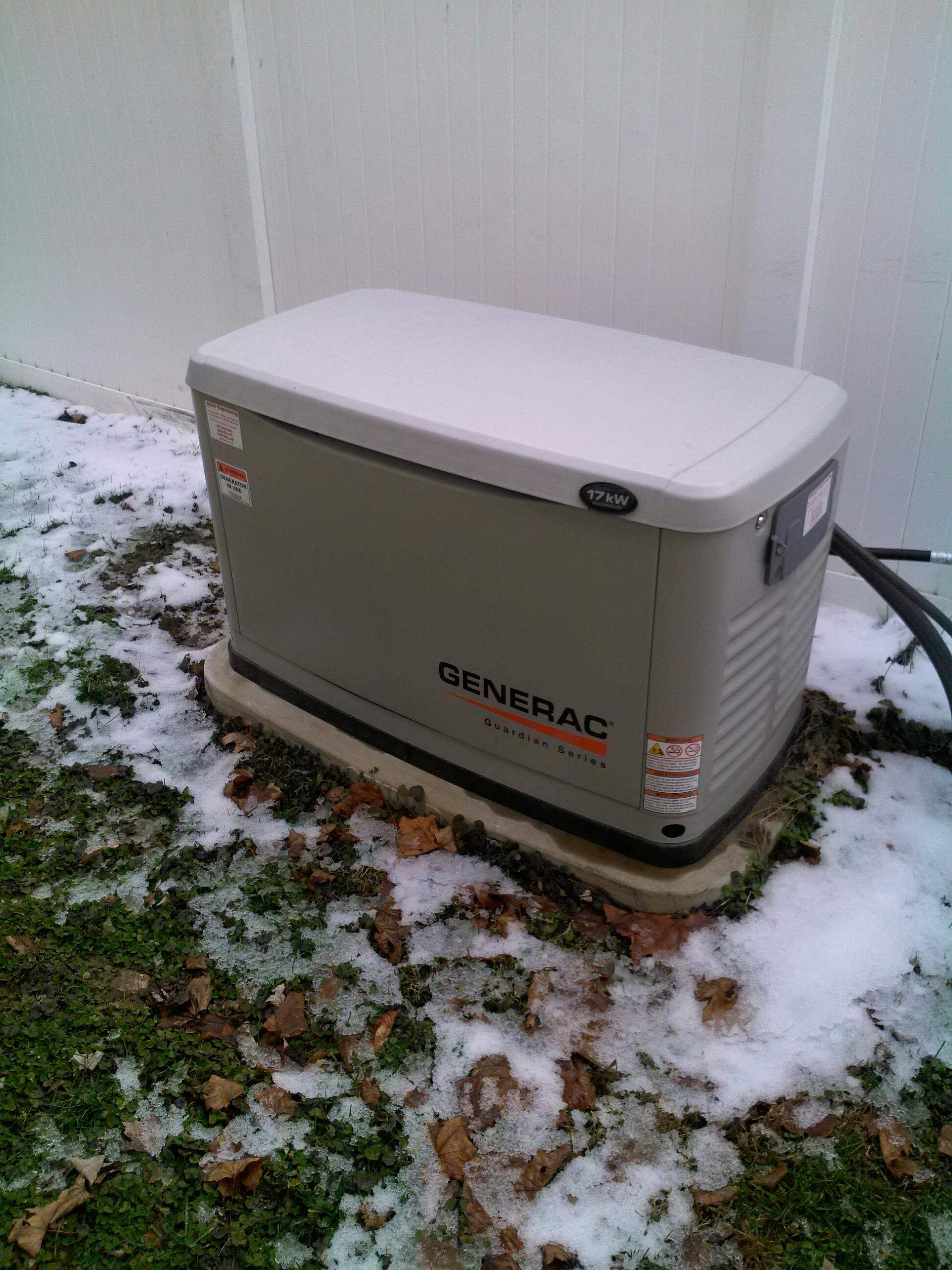 Savage, MD - 17 kw Generac automatic standby backup generator installation repair service call in Savage Maryland 20763