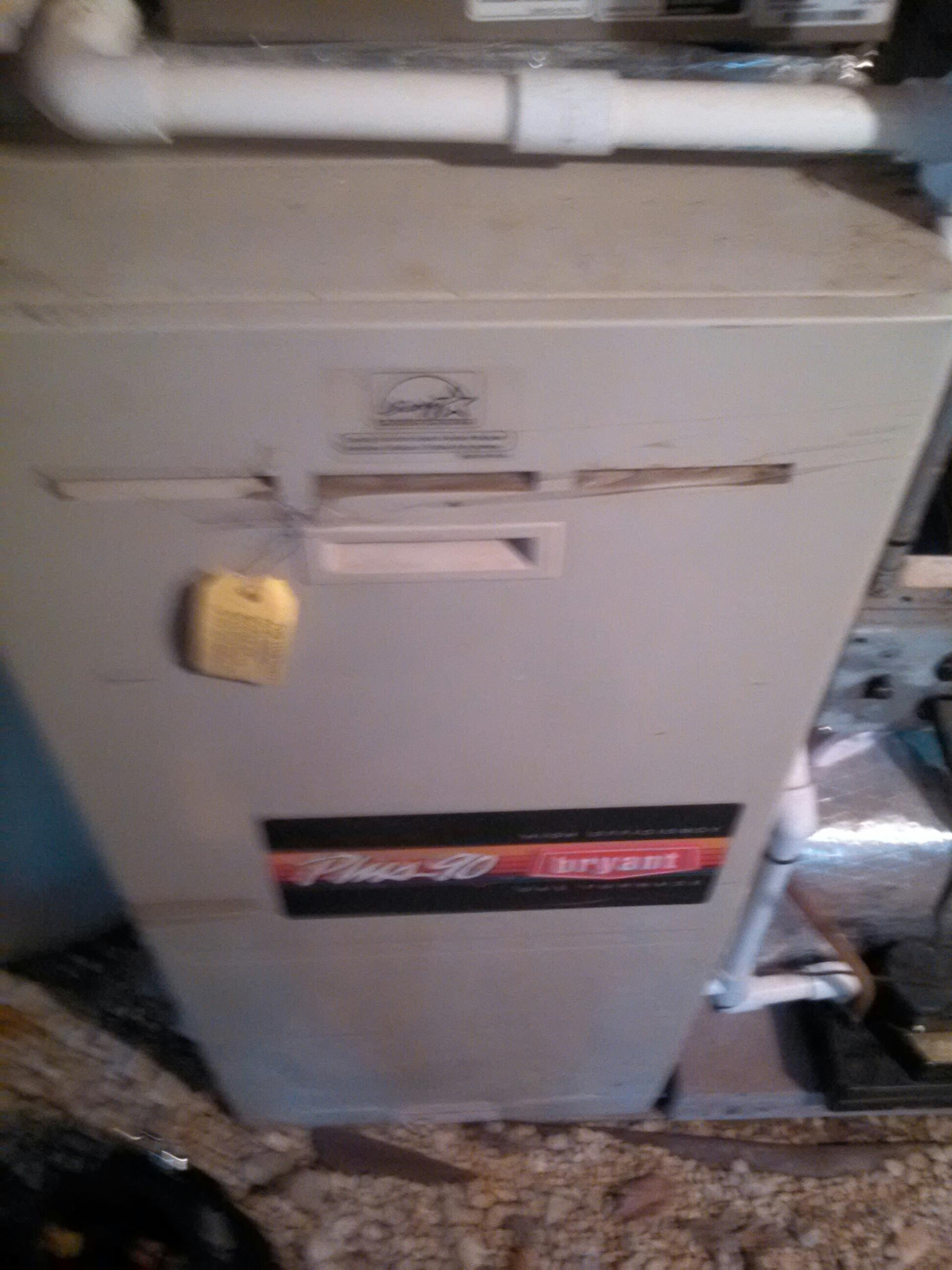 Gambrills, MD - Bryant Plus 90 gas furnace heating & AC system, Bradford White gas hot water heater replacement installation & plumbing repair service call in Gambrills Maryland 21054.